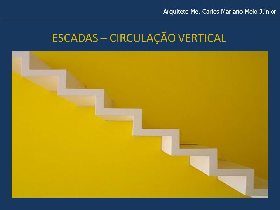 ESCADAS – CIRCULAÇÃO VERTICAL Arquiteto Me. Carlos Mariano Melo Júnior