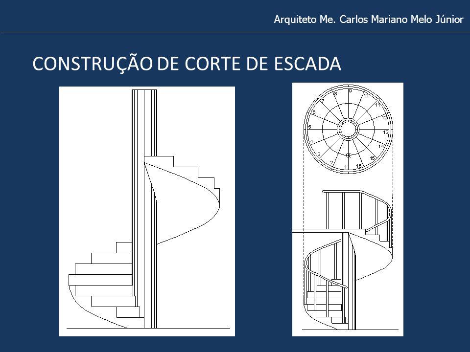 Arquiteto Me. Carlos Mariano Melo Júnior CONSTRUÇÃO DE CORTE DE ESCADA