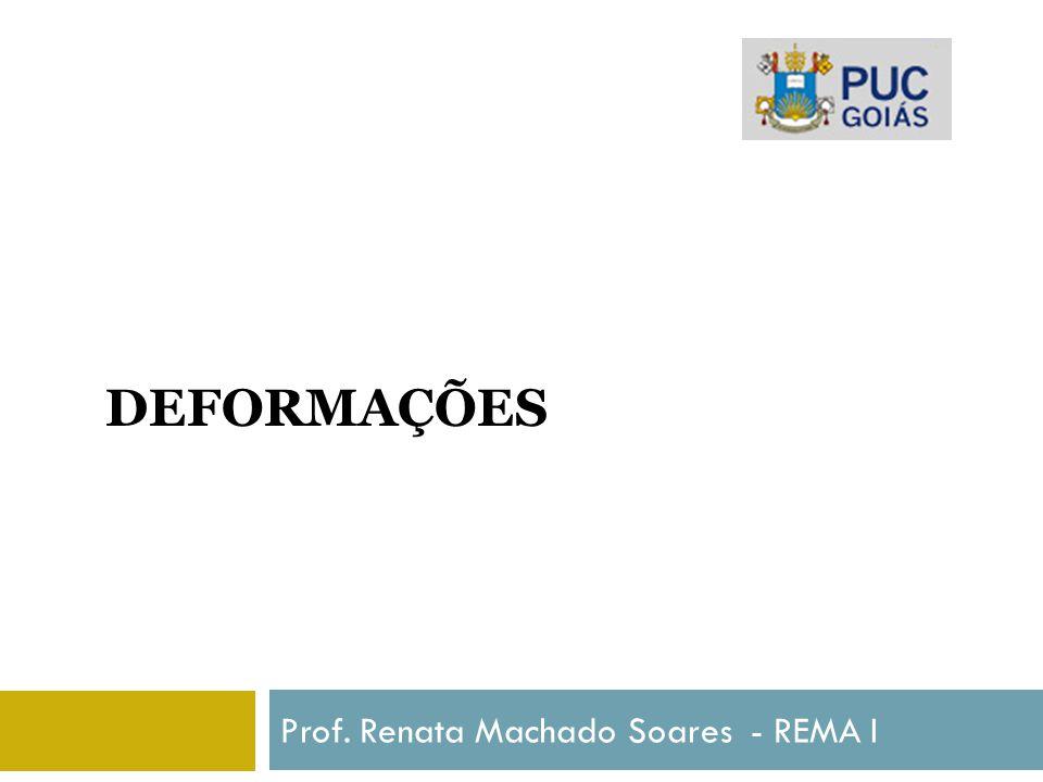 DEFORMAÇÕES Prof. Renata Machado Soares - REMA I