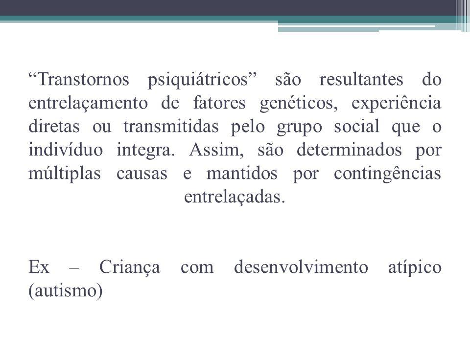 Normalidade X Anormalidade São as práticas culturais que estabelecem os padrões socialmente aceitos ou não.