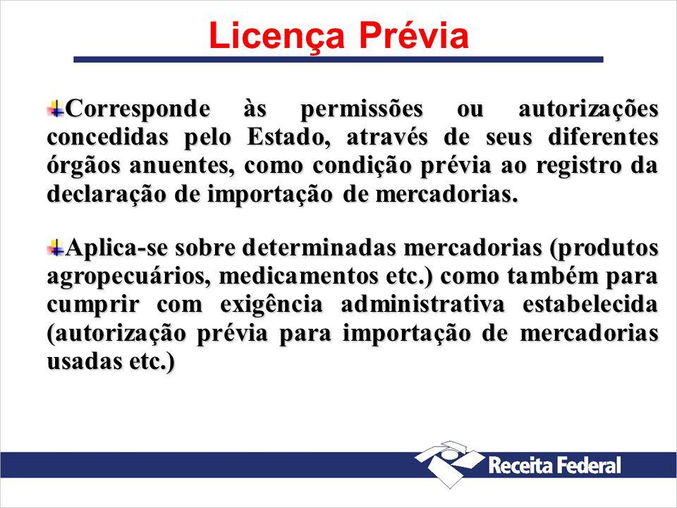 Despacho Aduaneiro de Mercadorias Toda mercadoria procedente do exterior deve ser submetida a despacho de importacão, baseando-se em declaração aprese