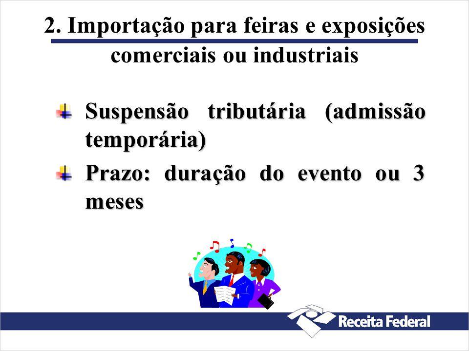 1. Importação de amostras comerciais Isenção tributáriaIsenção tributária sem valor comercial despacho aduaneiro simplificado através de DSI-formulári