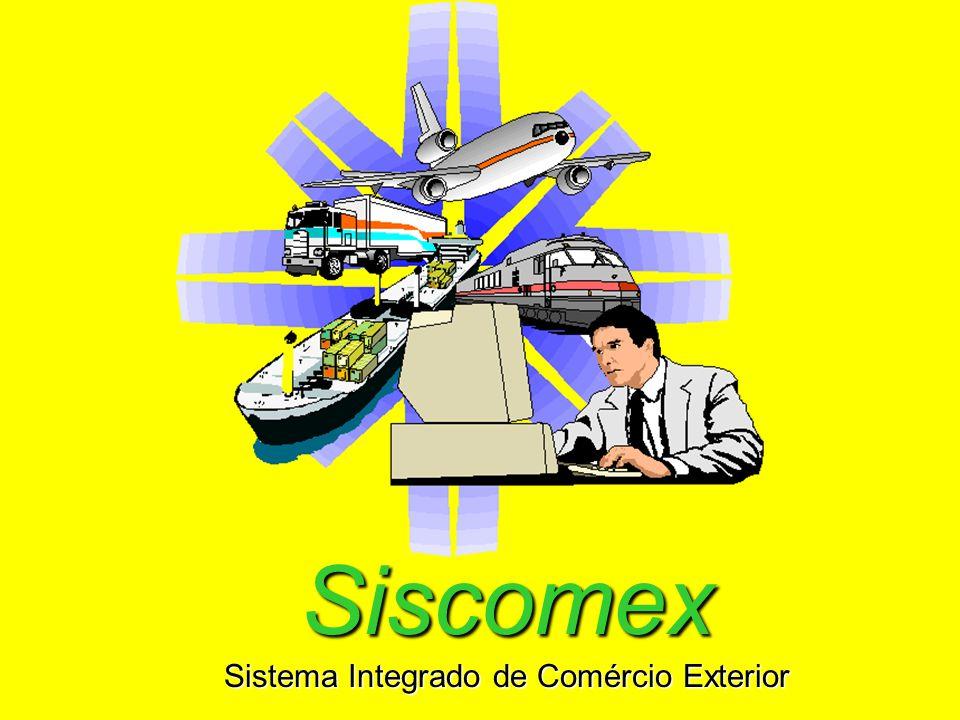 Siscomex Sistema Integrado de Comércio Exterior