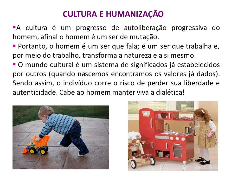 A cultura é um progresso de autoliberação progressiva do homem, afinal o homem é um ser de mutação.