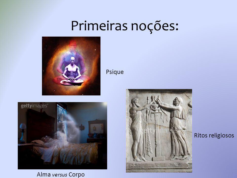 Primeiras noções: Ritos religiosos Alma versus Corpo Psique
