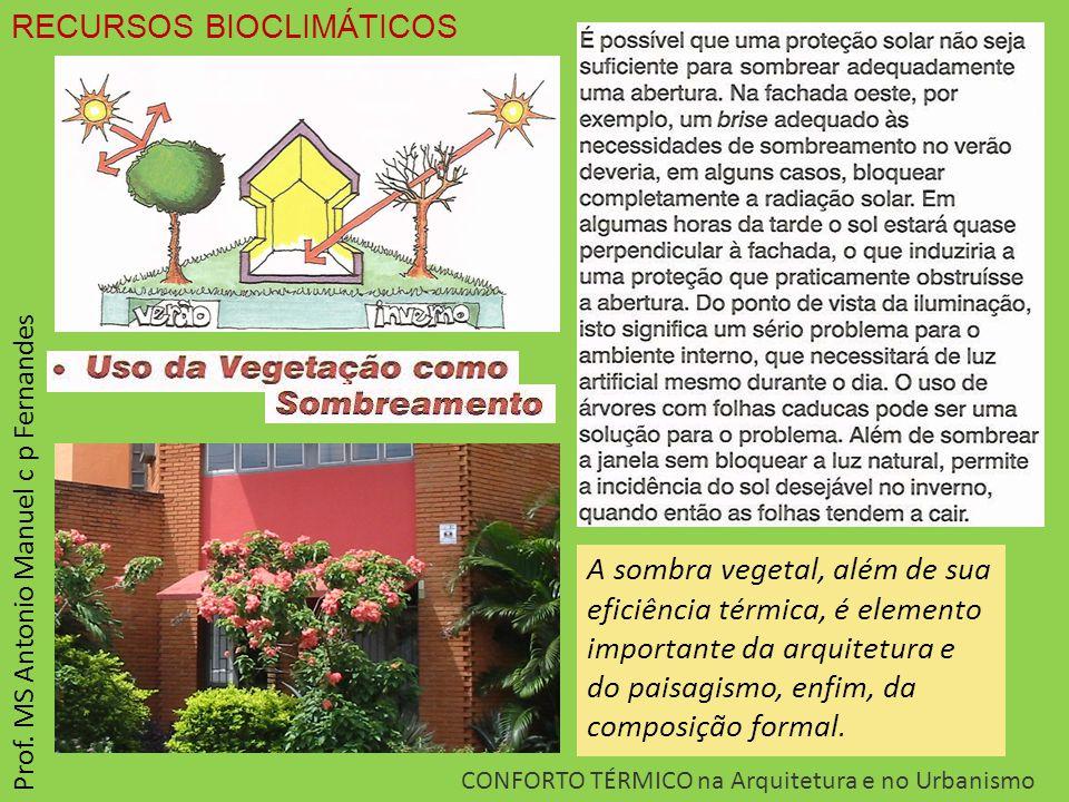 CONFORTO TÉRMICO na Arquitetura e no Urbanismo Prof.