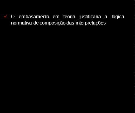 Oembasamentoemteoriajustificariaalógica normativa de composição das interpretações