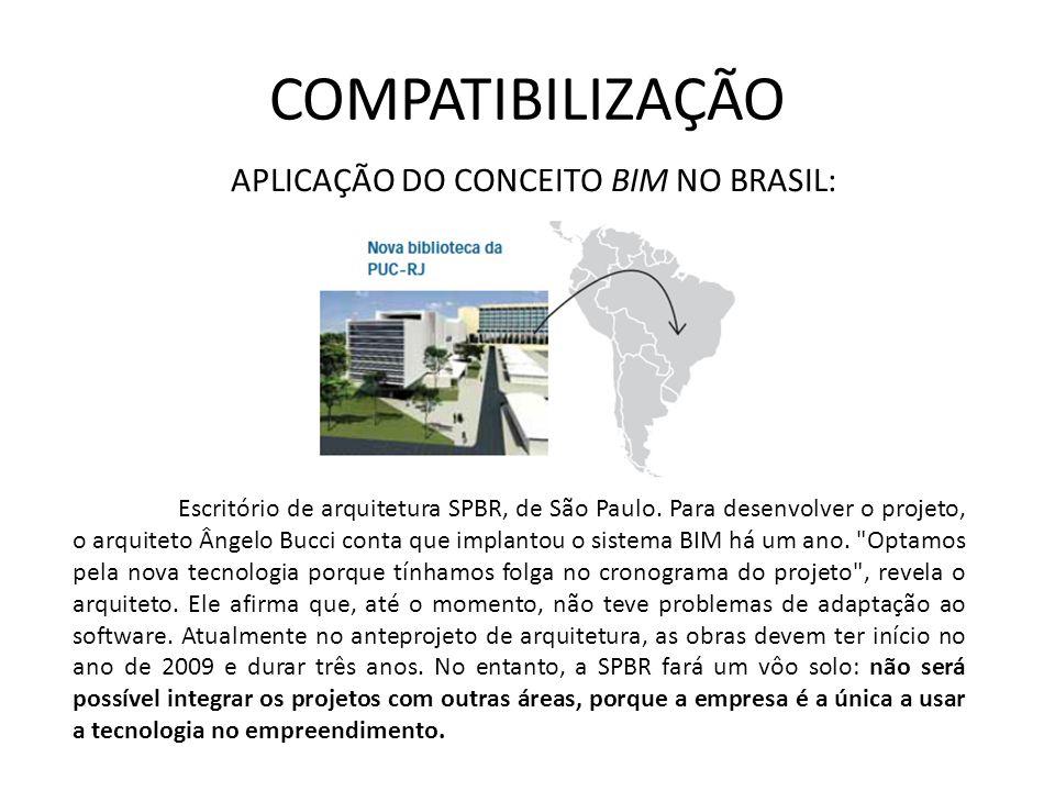 COMPATIBILIZAÇÃO Escritório de arquitetura SPBR, de São Paulo. Para desenvolver o projeto, o arquiteto Ângelo Bucci conta que implantou o sistema BIM