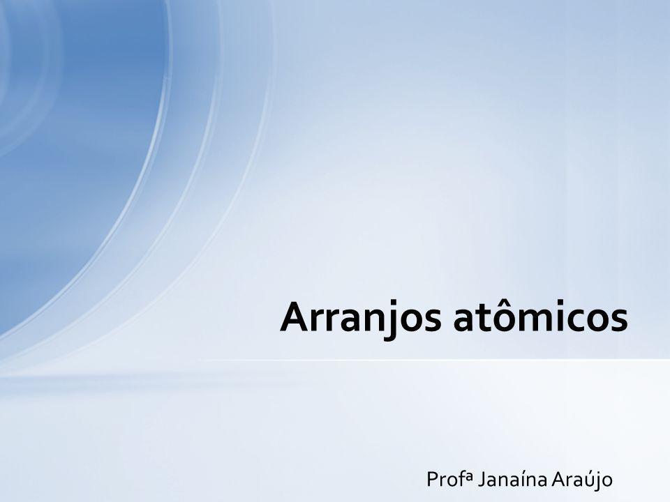 Arranjos atômicos Profª Janaína Araújo