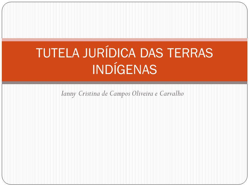 Ianny Cristina de Campos Oliveira e Carvalho TUTELA JURÍDICA DAS TERRAS INDÍGENAS