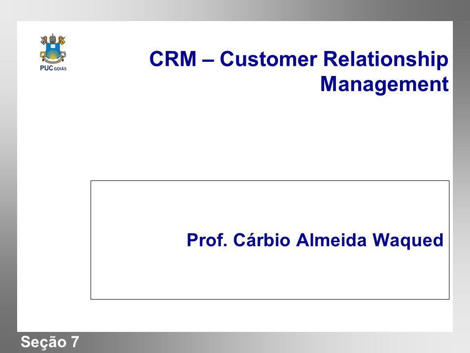 Seção 7 CRM – Customer Relationship Management Prof. Cárbio Almeida Waqued