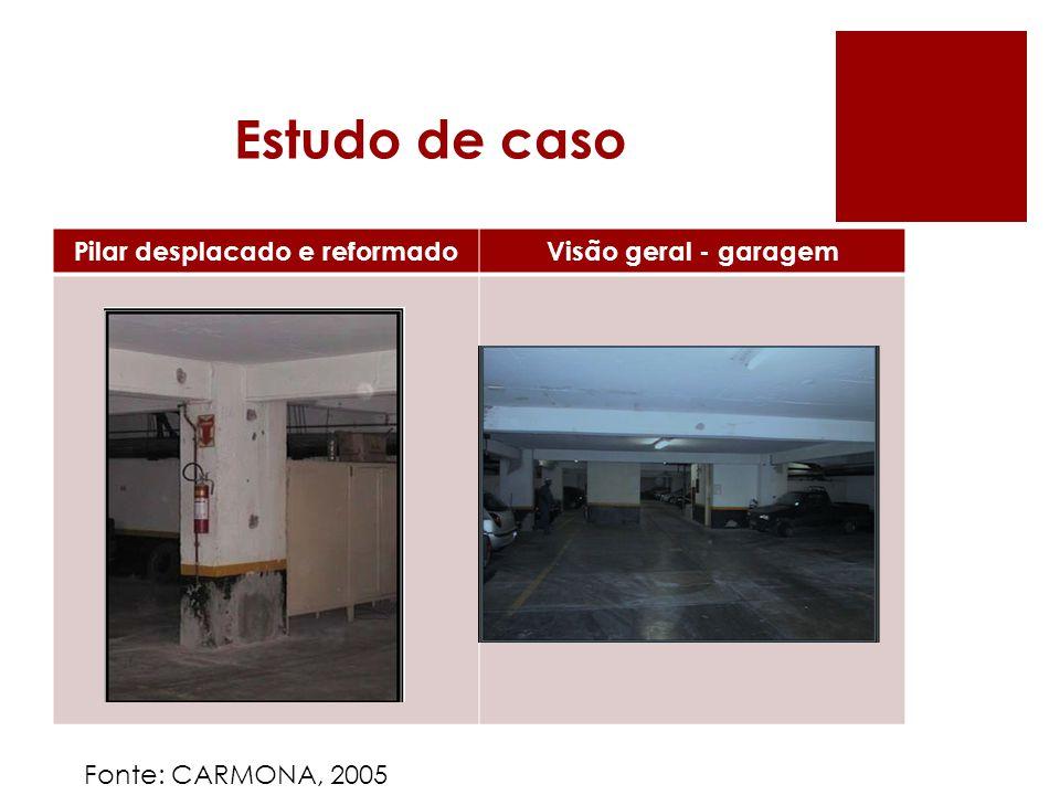 Estudo de caso Pilar desplacado e reformadoVisão geral - garagem Fonte: CARMONA, 2005