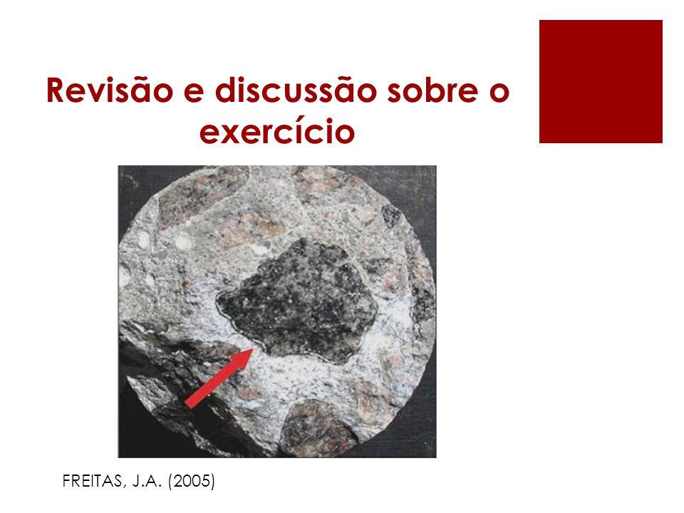 Revisão e discussão sobre o exercício FREITAS, J.A. (2005)