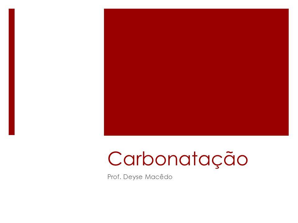 Carbonatação Prof. Deyse Macêdo