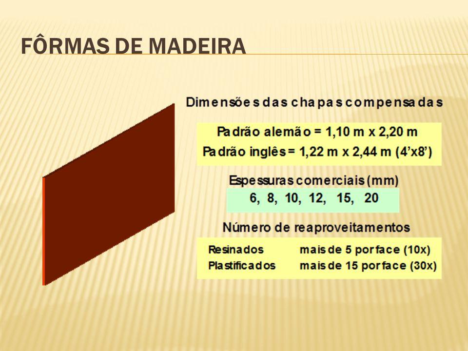 FÔRMAS DE MADEIRA