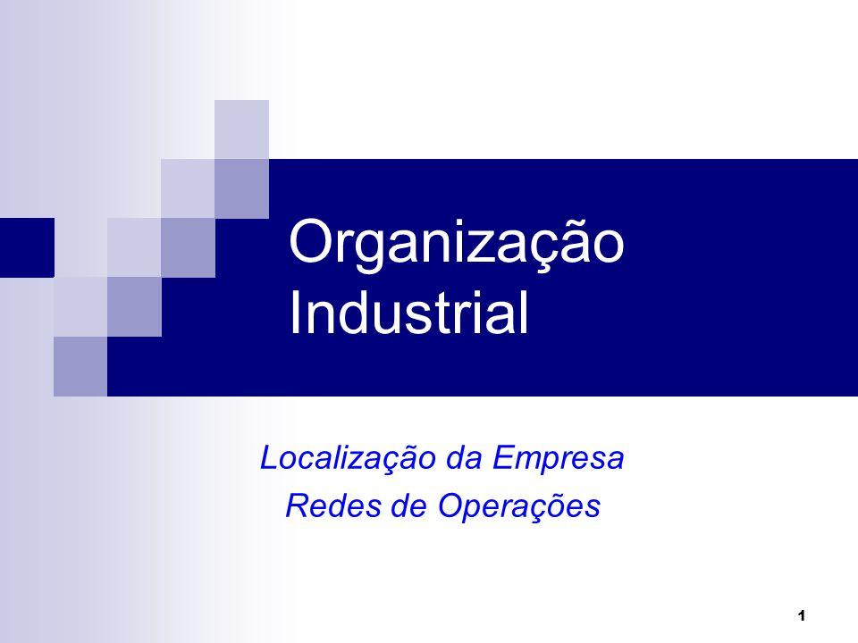 Organização Industrial Localização da Empresa Redes de Operações 1