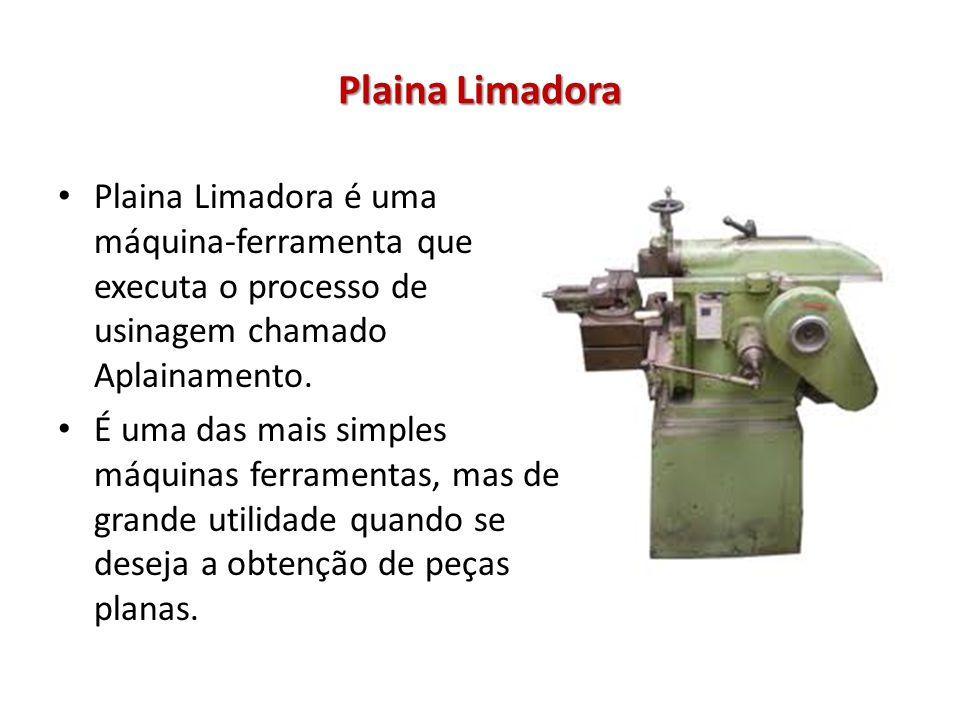 Plaina Limadora Plaina Limadora é uma máquina-ferramenta que executa o processo de usinagem chamado Aplainamento. É uma das mais simples máquinas ferr