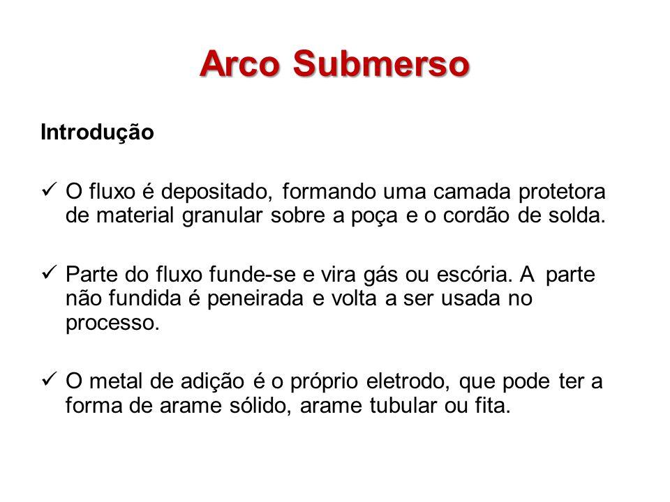 Arco Submerso O equipamento é composto de: Fonte de energia CA ou CC.
