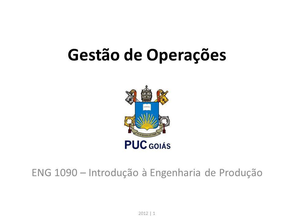 Gestão de Operações ENG 1090 – Introdução à Engenharia de Produção 2012 | 1