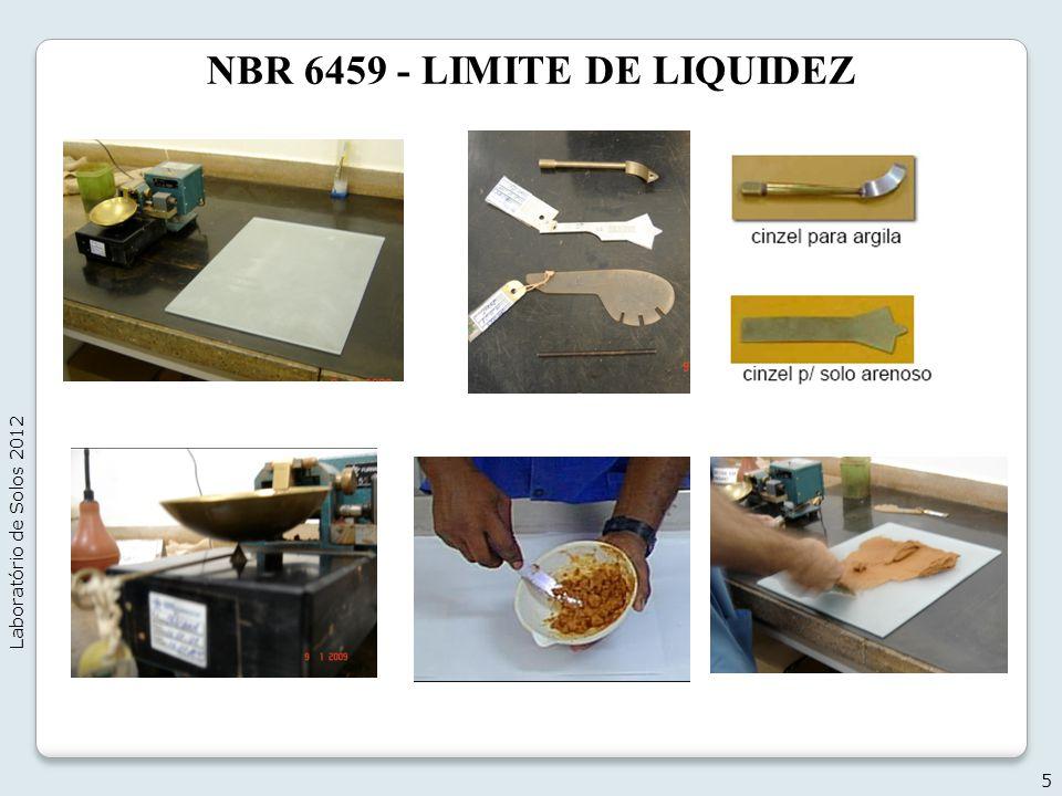 NBR 6459 - LIMITE DE LIQUIDEZ 5 Laboratório de Solos 2012