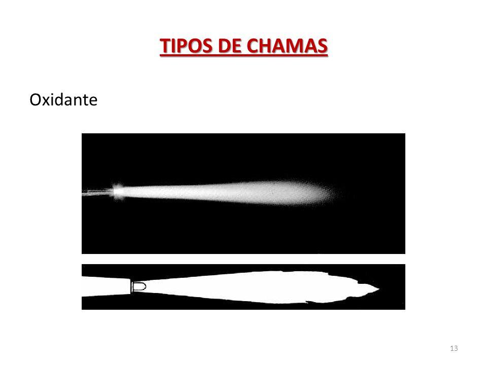 TIPOS DE CHAMAS 13 Oxidante