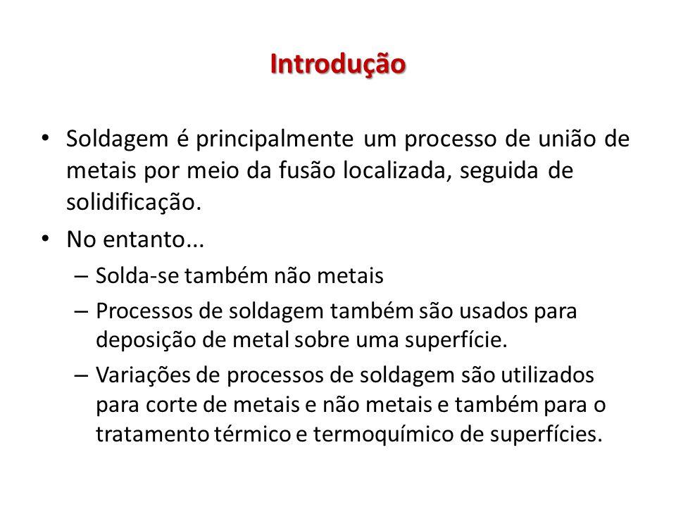 Introdução Soldagem é principalmente um processo de união de metais por meio da fusão localizada, seguida de solidificação. No entanto... – Solda-se t