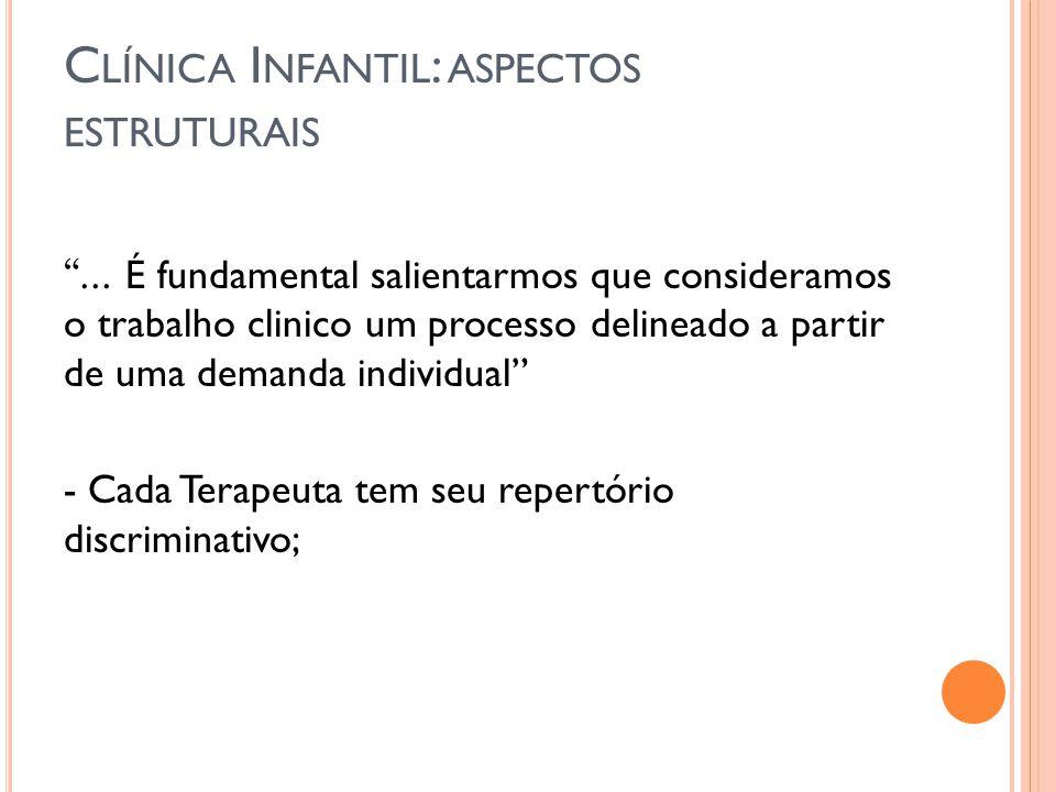 O ENCERRAMENTO DO T RABALHO C LÍNICO I NFANTIL.