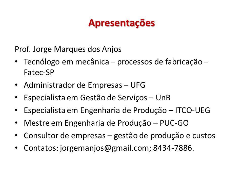 Ementa / Conteúdo Programático Tecnologia dos processos de usinagem: torneamento, furação, fresamento, rosqueamento e outros processos de usinagem.