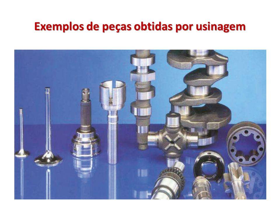 Exemplos de peças obtidas por usinagem