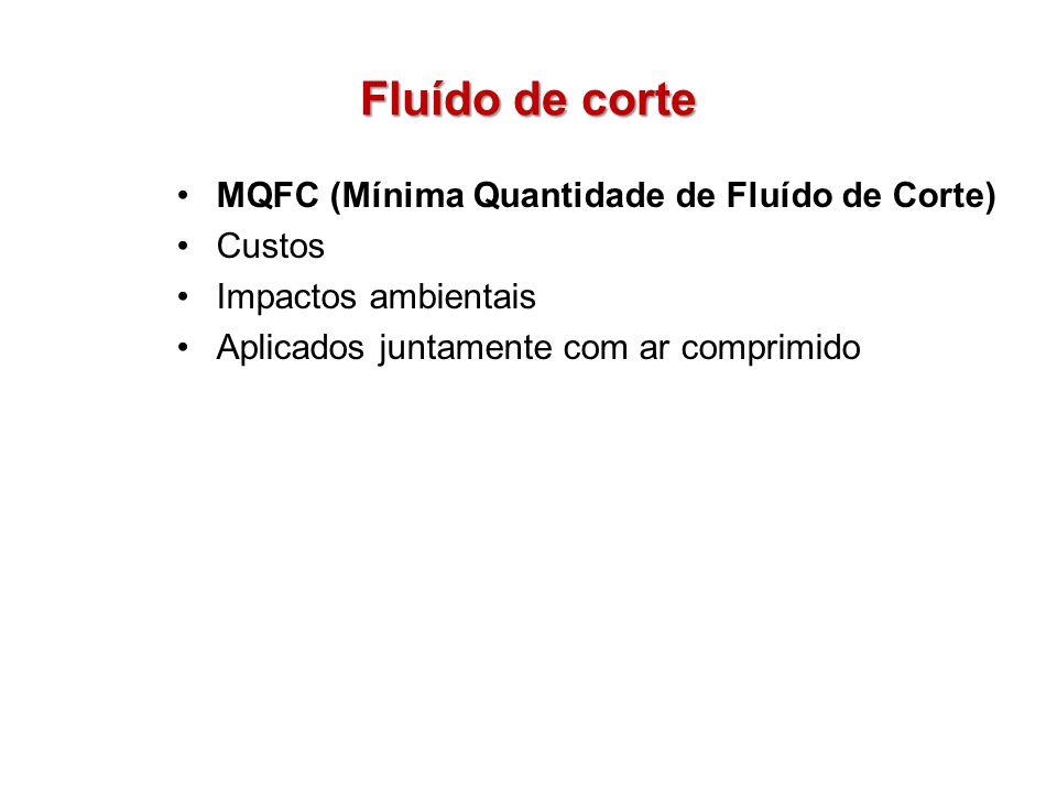 Fluído de corte MQFC (Mínima Quantidade de Fluído de Corte) Custos Impactos ambientais Aplicados juntamente com ar comprimido