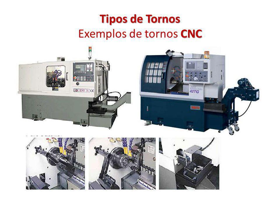 Tipos de Tornos CNC Tipos de Tornos Exemplos de tornos CNC