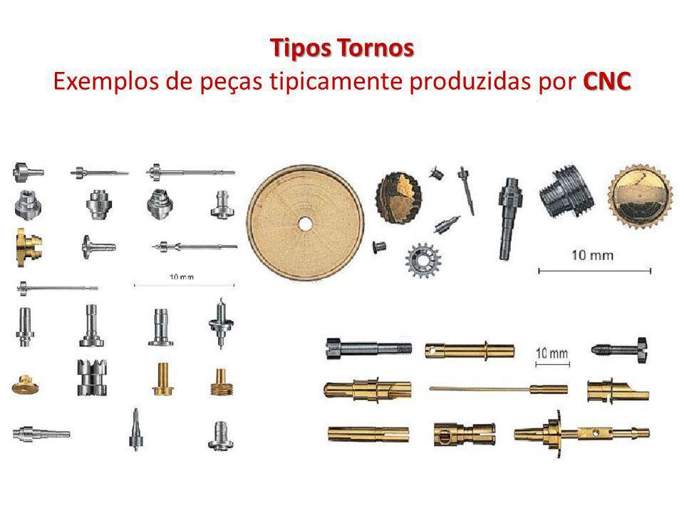 Tipos Tornos CNC Tipos Tornos Exemplos de peças tipicamente produzidas por CNC