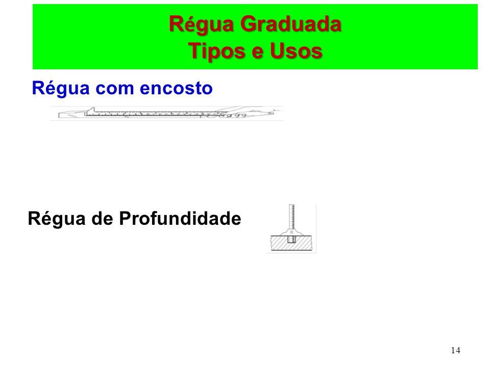 14 R é gua Graduada Tipos e Usos Régua com encosto Régua de Profundidade