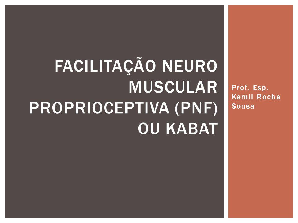 Prof. Esp. Kemil Rocha Sousa FACILITAÇÃO NEURO MUSCULAR PROPRIOCEPTIVA (PNF) OU KABAT
