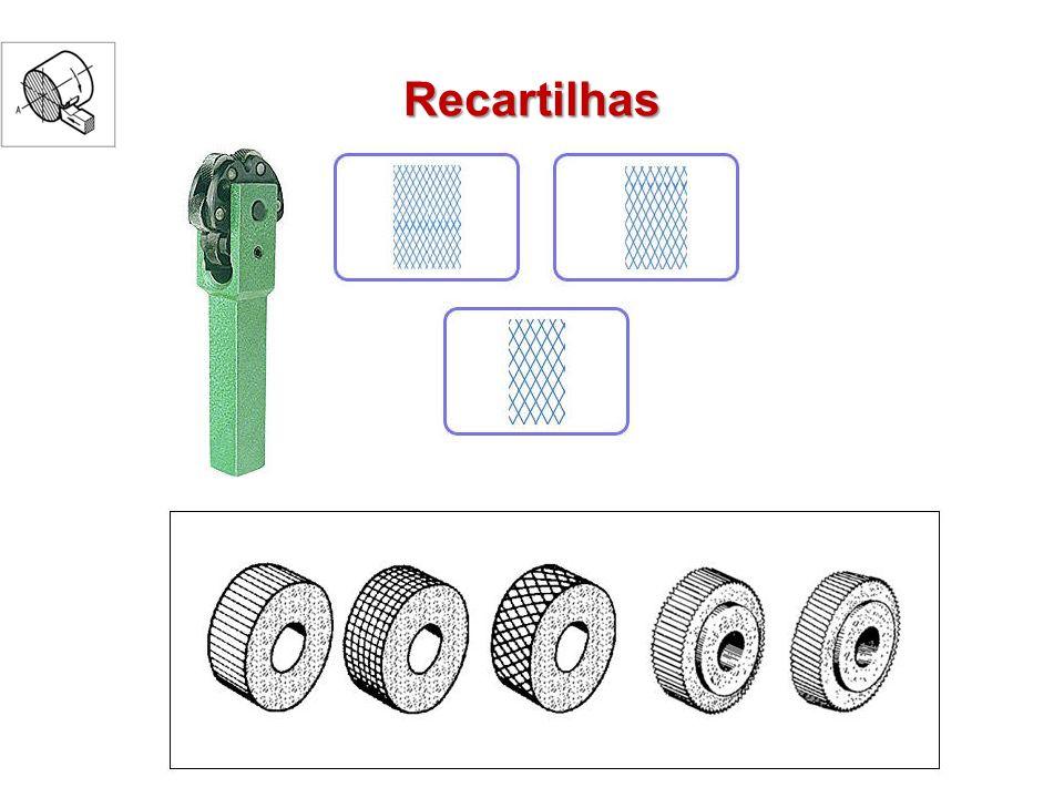 Cuidados no recartilhamento Dosar a pressão Executar vários passos Centralizar a peça Verificar a excentricidade do furo de centro e a ponta ou conta ponta Escolha do passo do recartilhado