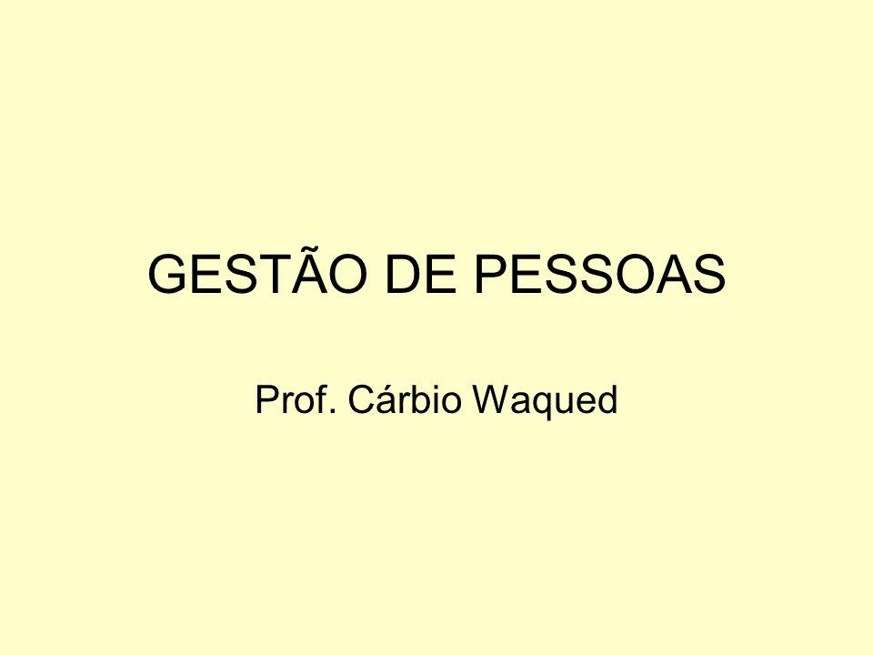 GESTÃO DE PESSOAS Prof. Cárbio Waqued