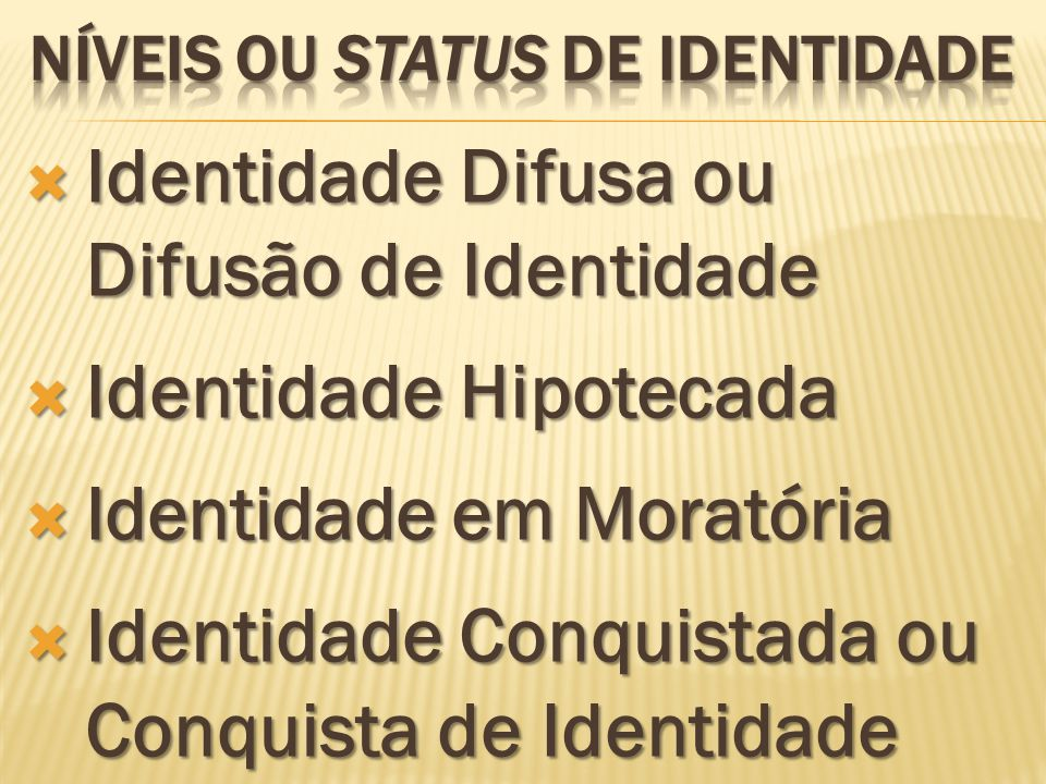 Identidade Difusa ou Difusão de Identidade Identidade Difusa ou Difusão de Identidade Identidade Hipotecada Identidade Hipotecada Identidade em Morató