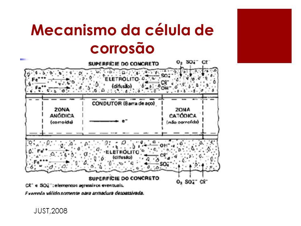 Mecanismo da célula de corrosão JUST,2008