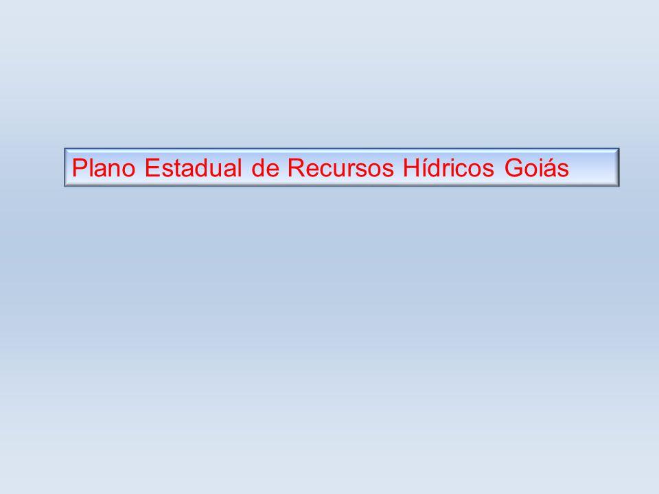 Plano Estadual de Recursos Hídricos Goiás