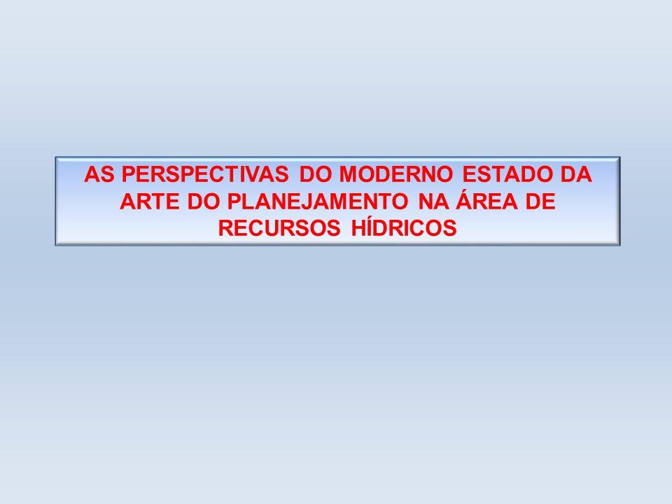 AS PERSPECTIVAS DO MODERNO ESTADO DA ARTE DO PLANEJAMENTO NA ÁREA DE RECURSOS HÍDRICOS