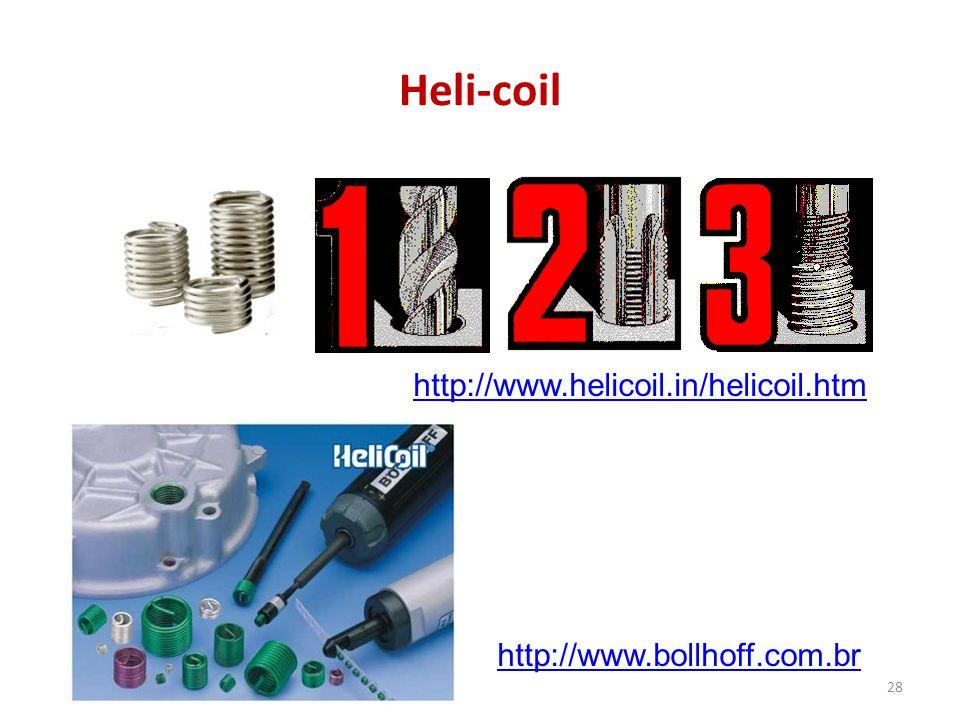 Heli-coil 28 http://www.helicoil.in/helicoil.htm http://www.bollhoff.com.br