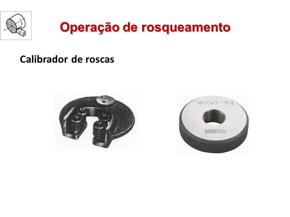 Operação de rosqueamento Calibrador de roscas