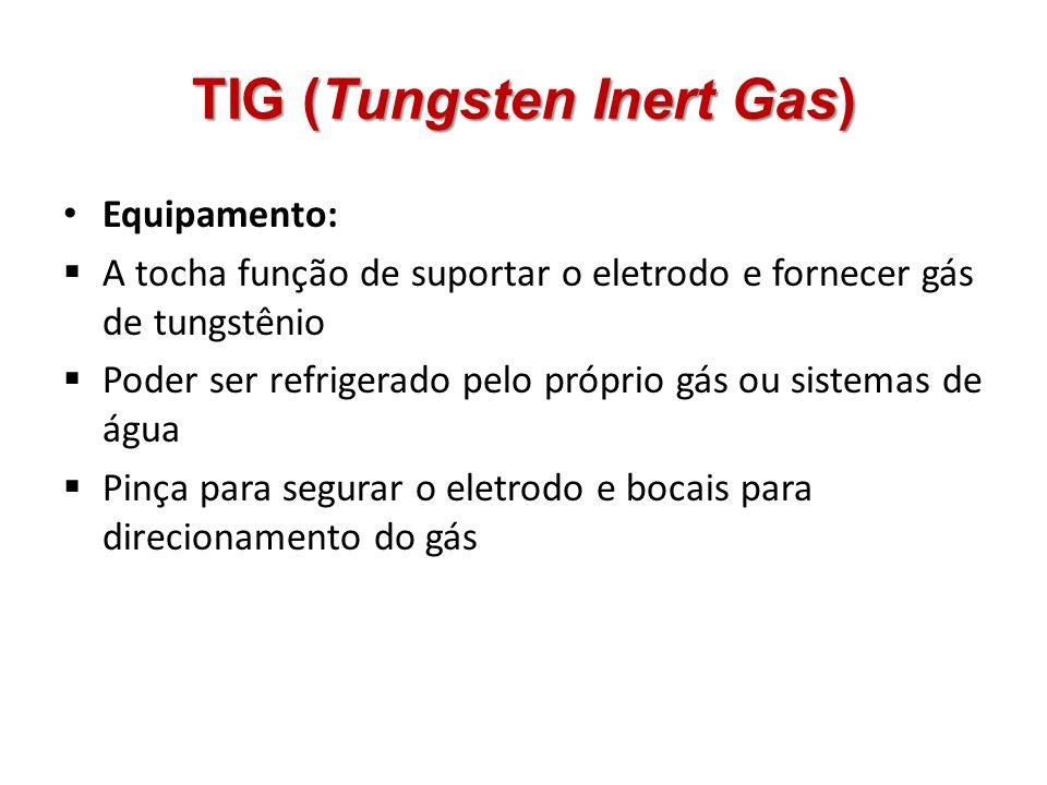 Equipamento: A tocha função de suportar o eletrodo e fornecer gás de tungstênio Poder ser refrigerado pelo próprio gás ou sistemas de água Pinça para