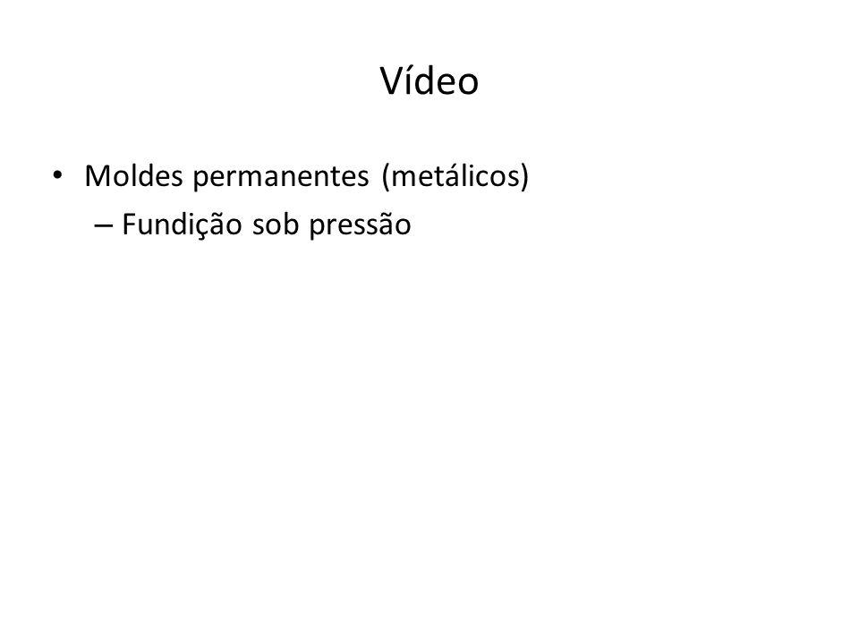 Vídeo Moldes permanentes (metálicos) – Fundição sob pressão