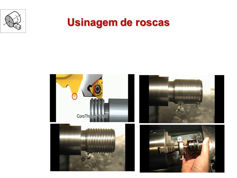 Roscas especiais Mudando a ferramenta: Roscas trapezoidal Roscas quadradas Broqueador (roscas internas) Mudando o sentido do carro Roscas à esquerda ou à direita Mudando o passo (deslocamento) Roscas múltiplas