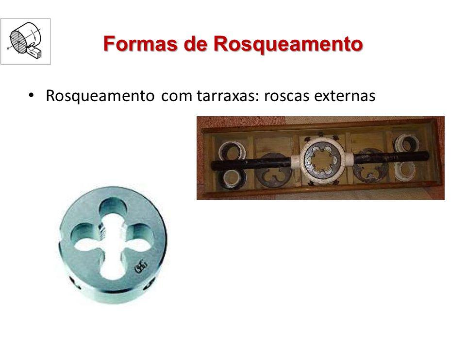 Formas de Rosqueamento Rosqueamento com tarraxas: roscas externas