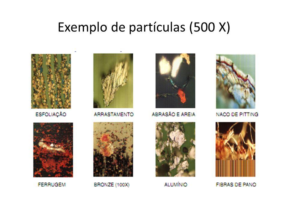 Exemplo de partículas (500 X)
