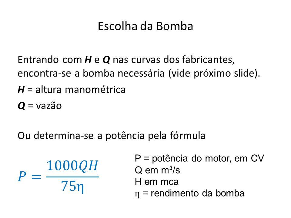 Escolha da Bomba