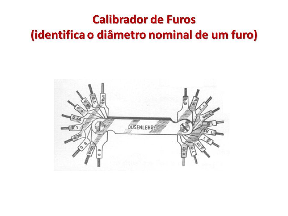Calibrador de Furos (identifica o diâmetro nominal de um furo)