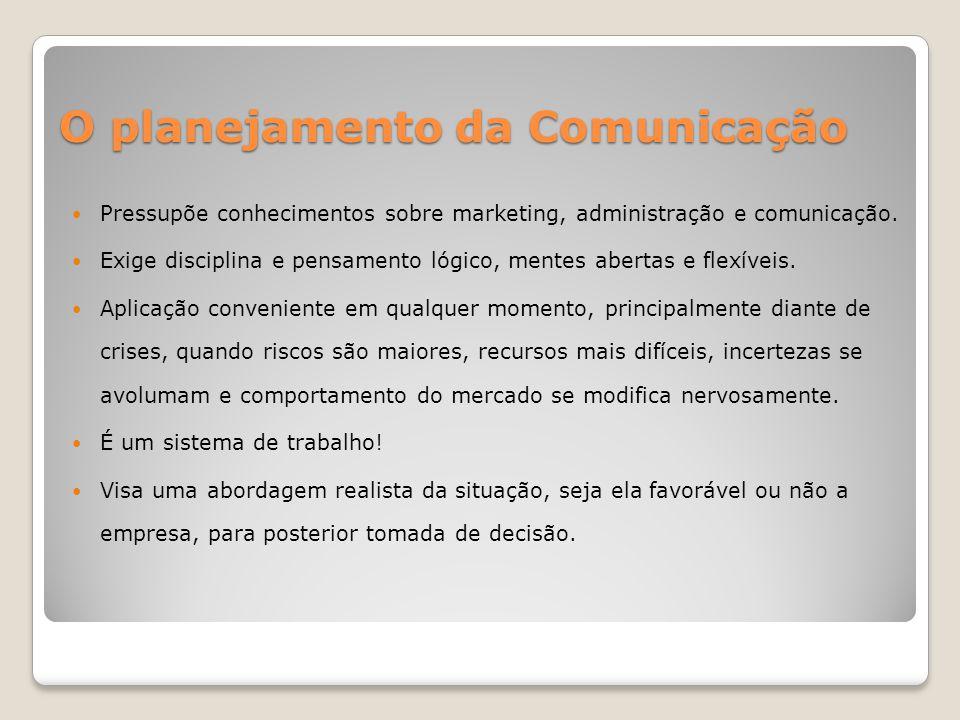 O planejamento da Comunicação Planejadores são arquitetos e guardiães das marcas dos anunciantes.